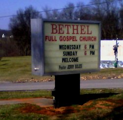 Bethel Full Gospel Church Cemetery