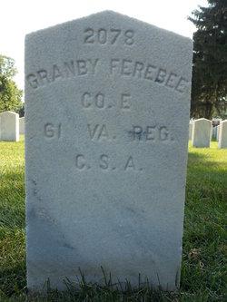 Pvt Granby Ferebee