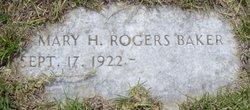 Mary H <I>Rogers</I> Baker