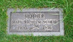Mary <I>Wilhelm</I> Scheid