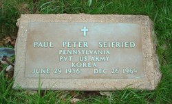 PVT Paul Peter Seifried