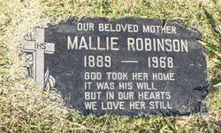 mallie robinson born