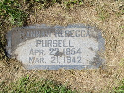Hannah Rebecca <I>McClain</I> Pursell