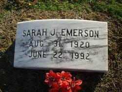 Sarah <I>Johnson</I> Emerson