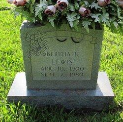 Bertha <I>Baggett</I> Lewis