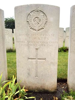Private Frederick James Watts