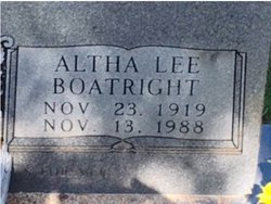Altha Lee <I>Boatright</I> Bertling