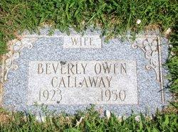 Beverly May <I>Owen</I> Callaway