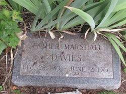 Esther Faye <I>Marshall</I> Davies