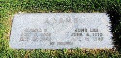 June <I>Lee</I> Adams