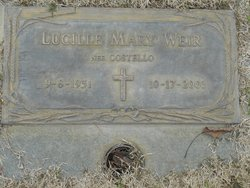Lucille Mary <I>Costello</I> Weir