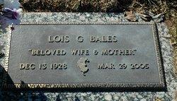 Lois <I>Garrett</I> Bales