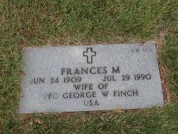 Frances M Finch
