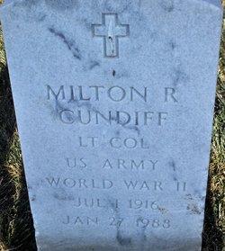Milton R Cundiff