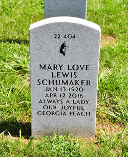 Mary Love <I>Lewis</I> Schumaker