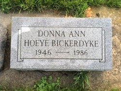 Donna Ann <I>Hoeye</I> Bickerdyke