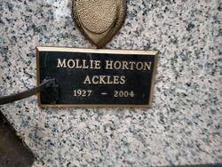 Mollie <I>Horton</I> Ackles