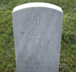 William M Crowder