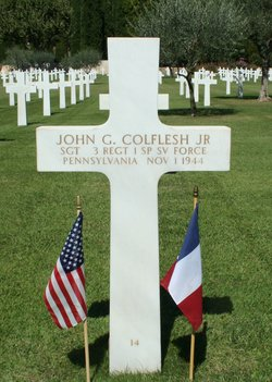 Sgt John G Colflesh, Jr
