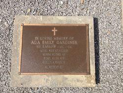 Ada Emily <I>Barlow</I> Gardiner