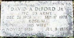 David A Deford, Jr