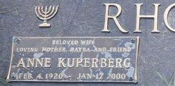 """Anne """"Nan"""" <I>Kuperberg</I> Rhodes"""