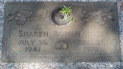 Sharen <I>Bowen</I> Rose