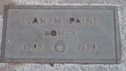 "Ivan Maurice ""Monty"" Paine"
