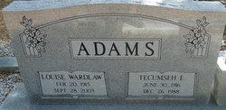 Louise <I>Wardlaw</I> Adams