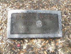 Ethel <I>MacDavid</I> Alexander