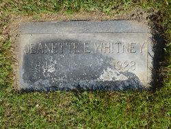Jeanette Elizabeth <I>Deputy</I> Whitney
