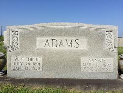 "William Franklin ""Dink"" Adams"