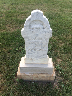 Anna M A  Ahrens (Unknown-1883) - Find A Grave Memorial