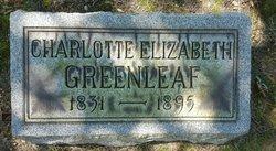 Charlotte Elizabeth <I>Stanford</I> Greenleaf