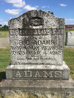 "Elizabeth J ""Bettie"" <I>Lancaster</I> Adams"