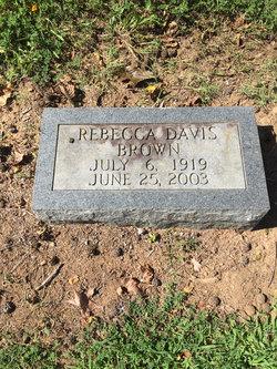 Rebecca <I>Davis</I> Brown