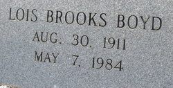 Lois <I>Brooks</I> Boyd