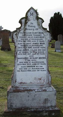Margaret Hyslop <I>Brown</I> Muir