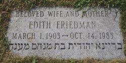 Edith Bertha <I>Rosenberg</I> Friedman
