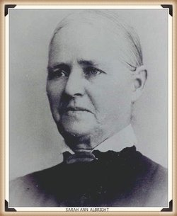 Sarah Ann <I>Albright</I> George