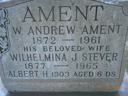 """Wilhelmina J. """"Minnie"""" <I>Stever</I> Ament"""