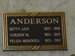 Betty Ann <I>Wagner</I> Anderson