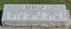 Emaline M <I>Burnap</I> Fink