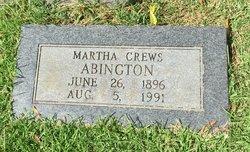 Martha <I>Crews</I> Abington