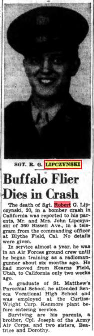 Sgt Robert G Lipczynski