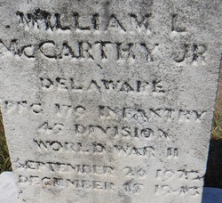 Pvt William Leo McCarthy, Jr