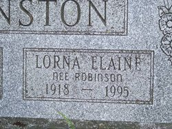 Lorna Elaine <I>Robinson</I> Johnston