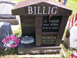 """Beatrice M. """"Trixie"""" <I>Vellender</I> Billig"""