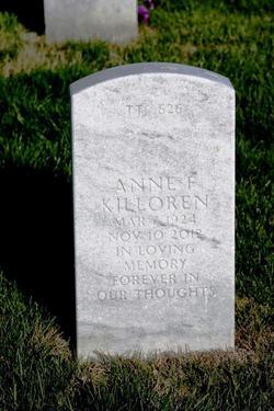 Anne F <I>Burch</I> Killoren