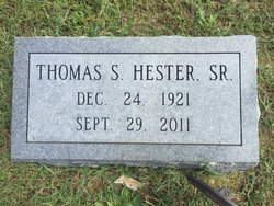 Thomas Sprinkle Hester, Sr